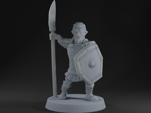 Hobgoblin halberdier/spearman