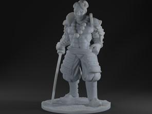 Human Samurai Fighter \ Kensei Monk