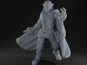 Halfling Warlock Miniature