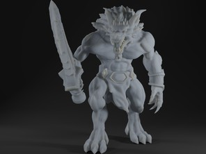 Werewolf Hybrid Form Barbarians