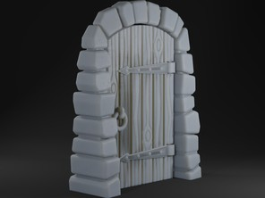 Stone Dungeon Door for Gloomhaven