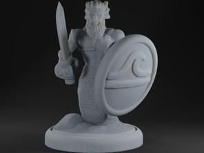 Merfolk sword and board