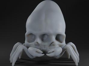 Triclops Cone Skull Crab