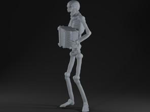 Skeleton accordion player