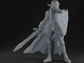 Elf Paladin Miniature