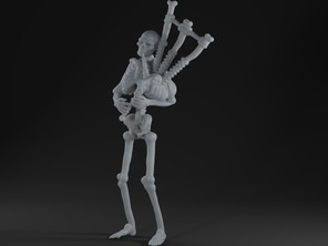 Skeleton playing bagpipes