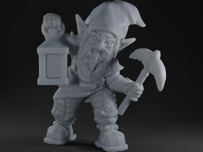 Evil gnome with pickaxe and lantern