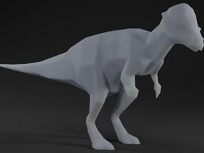 Low Polly Pachycephalosaurus