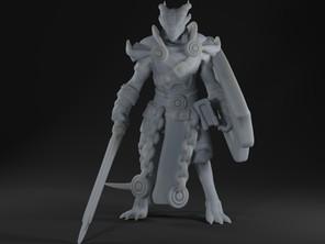 Dragonborn Paladin (Helmetless)