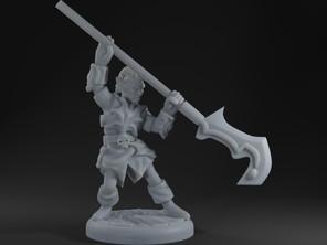 Dark Elf Polearm Fighter