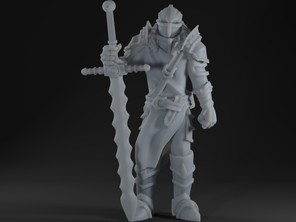 Medieval Knight with great sword