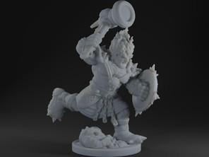 Azer / Dwarf (swappable head)