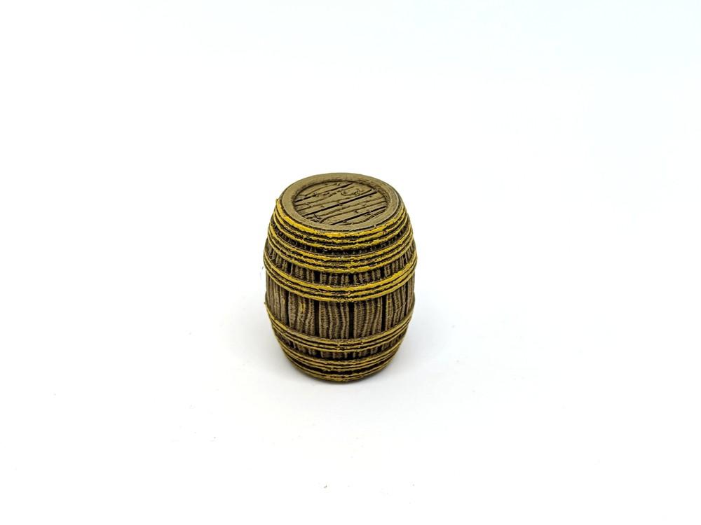 Wooden Rope Barrel