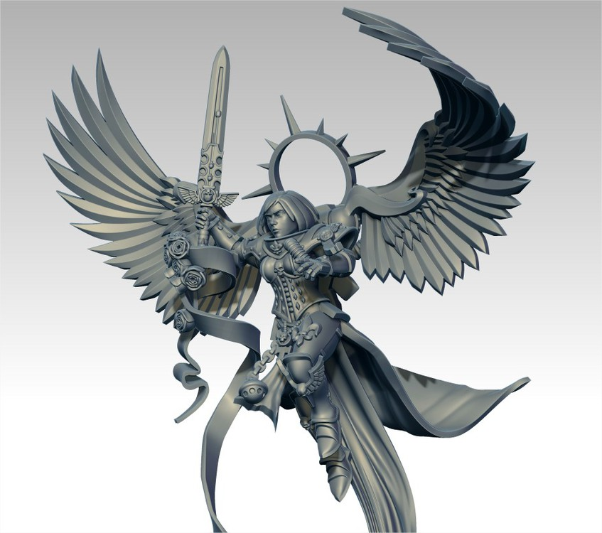 Undying Saint with wings