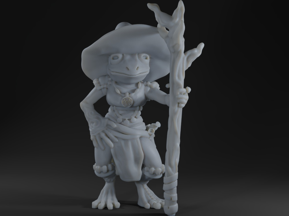 Female frog mage (remake)