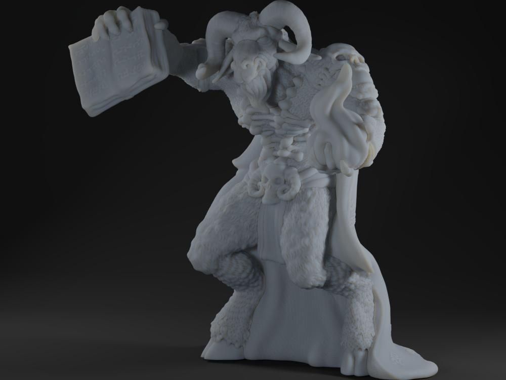 Ibixian Goat-Man Necromancer