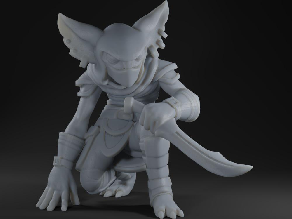 Goblin Rogue Kneeling