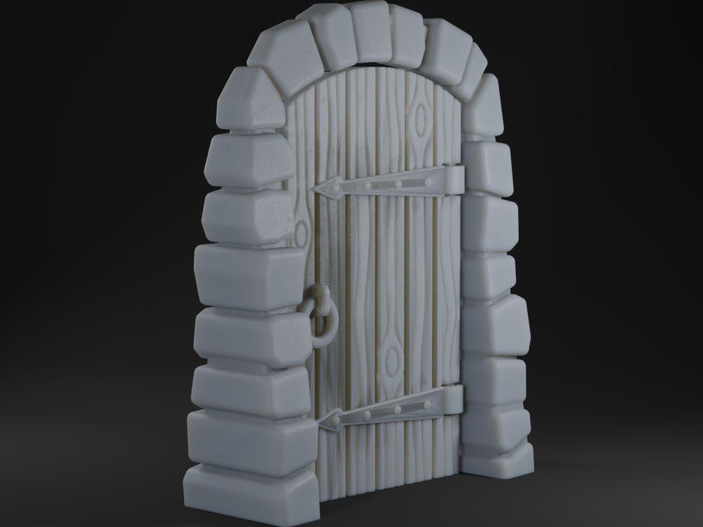 Stone Dungeon Door for Gloomhaven