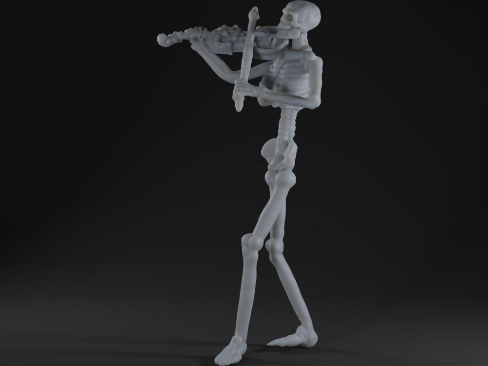 Skeleton Violinist