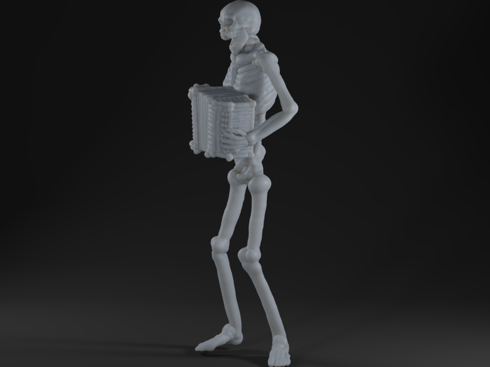 Skeleton accordion player