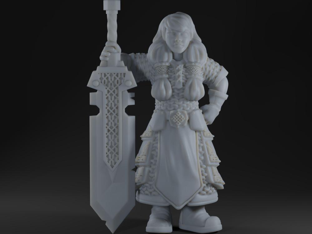 Female dwarf warrior